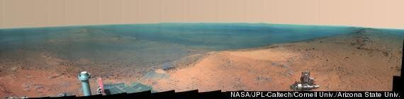 Mars Rover Opportunity Lifts US Flag To Mark 11 Year