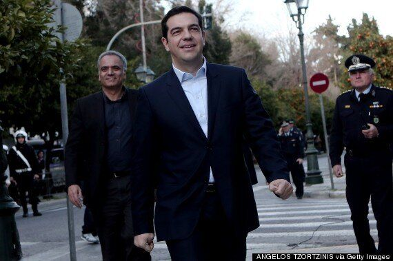 Greece's New Prime Minister Alexis Tsipras Sworn In With A Smile, But Minus A