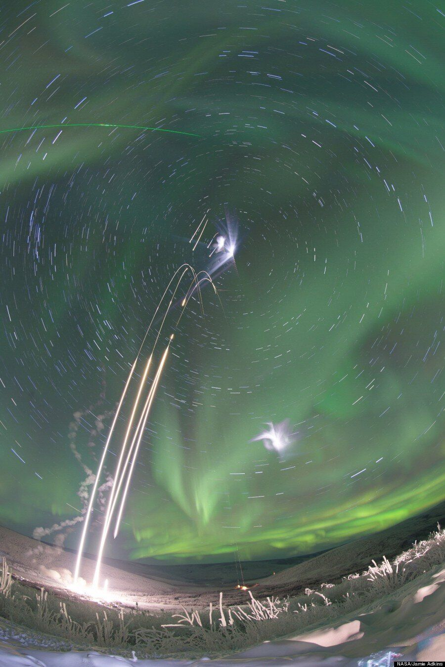 Rockets Launching Into An Aurora Sound As Awesome As They