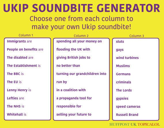 Have Fun In The Run-Up To The General Election With Our Ukip Soundbite