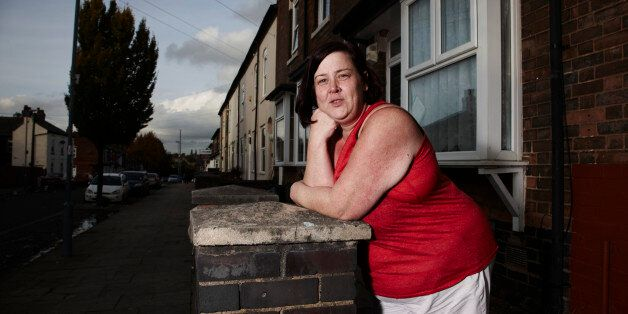 In this photo provided by Channel 4 on Tuesday, Jan. 21, 2013, 'White Dee' featured in the show Benefits...