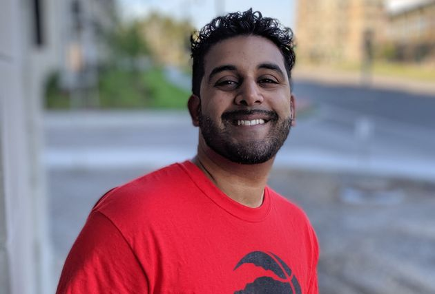 Hamzah Moin, a 34-year-old Raptors fan who started a fundraiser for Kevin Durant's