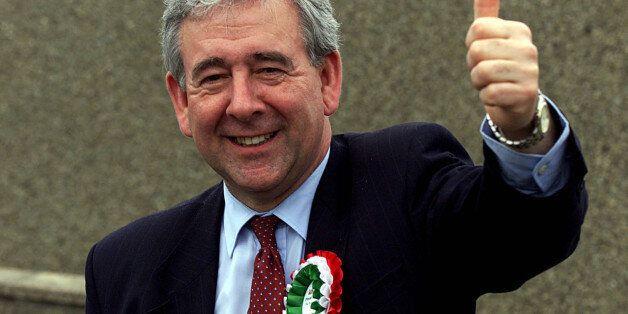 Plaid Cymru party leader Dafydd Wigley after posting his vote, near Caernarfon, which will decide the...