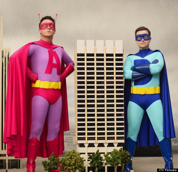 Ant And Dec Prepare For 'Saturday Night Takeaway' Return With Superhero Costumes