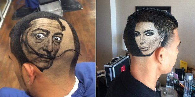 Barber Rob Ferrel Creates Incredible Celebrity Portraits With Unique