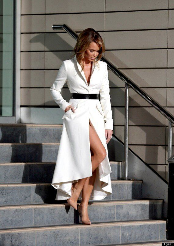 Amanda Holden Braves The Cold In Revealing 'Coat Dress' At Britain's Got Talent' Auditions In