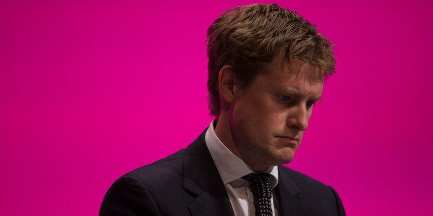 MANCHESTER, ENGLAND - SEPTEMBER 21: Tristram Hunt, Shadow Secretary of State for Education, listens to...