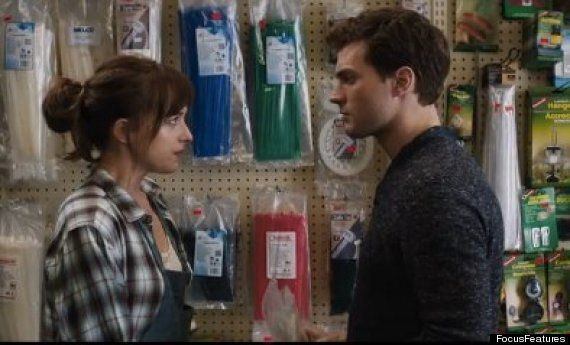 Jamie Dornan, Dakota Johnson Talk Cable Ties, Rope And Masking Tape In 'Fifty Shades Of Grey' First