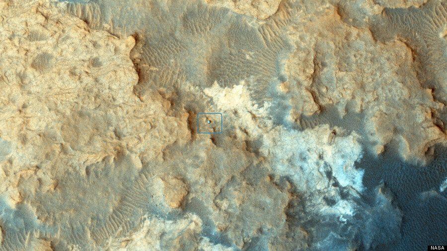 NASA Mars Orbiter Takes Amazing Picture Of Curiosity