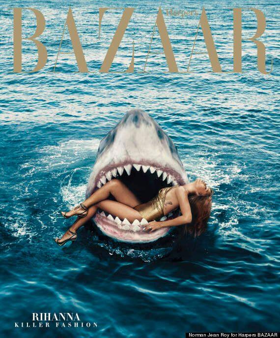 Rihanna Swims With Sharks In New Harper's Bazaar Photoshoot