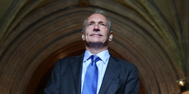 Sir Tim Berners-Lee inventor of the World Wide Web arrives at Guildhall to receive an Honorary Freedom...