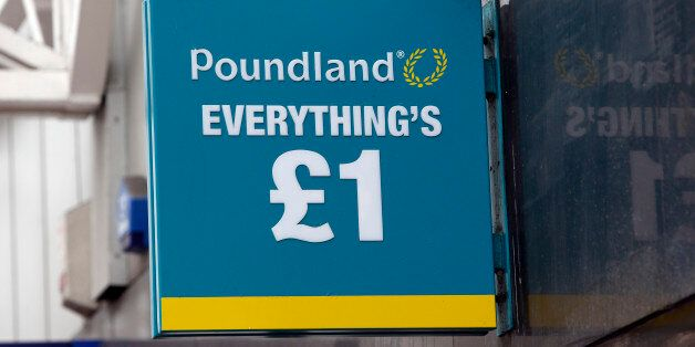 A Poundland shop in Glasgow, Scotland, as the campaign ahead of the Scottish independence referendum...