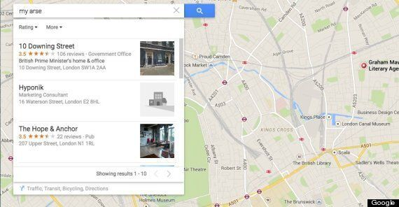 Google 'The Shithole' On Google Maps And Tottenham's White Hart Lane Pops