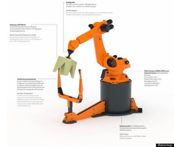 RoboChop Is An Internet-Controlled Furniture-Making Droid From The