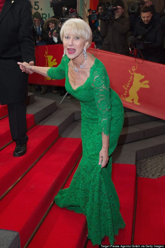 Helen Mirren Takes A Tumble On The Red Carpet And Handles It With The Grace And Humour You'd Expect
