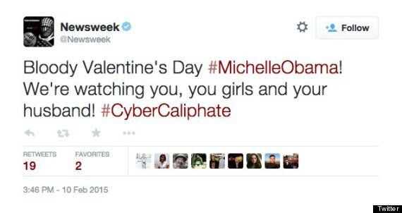 Newsweek Twitter Account Hacked By Islamic State, Posts Threat To Michelle