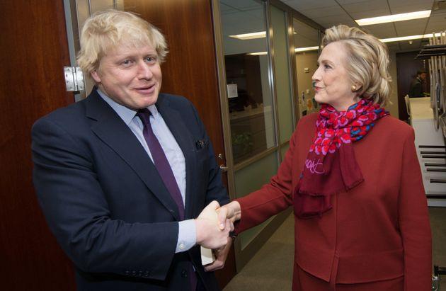 Boris Johnson Meets 'Sadistic Nurse' Hillary Clinton Amid Questions Over Mayor's 'Promotional