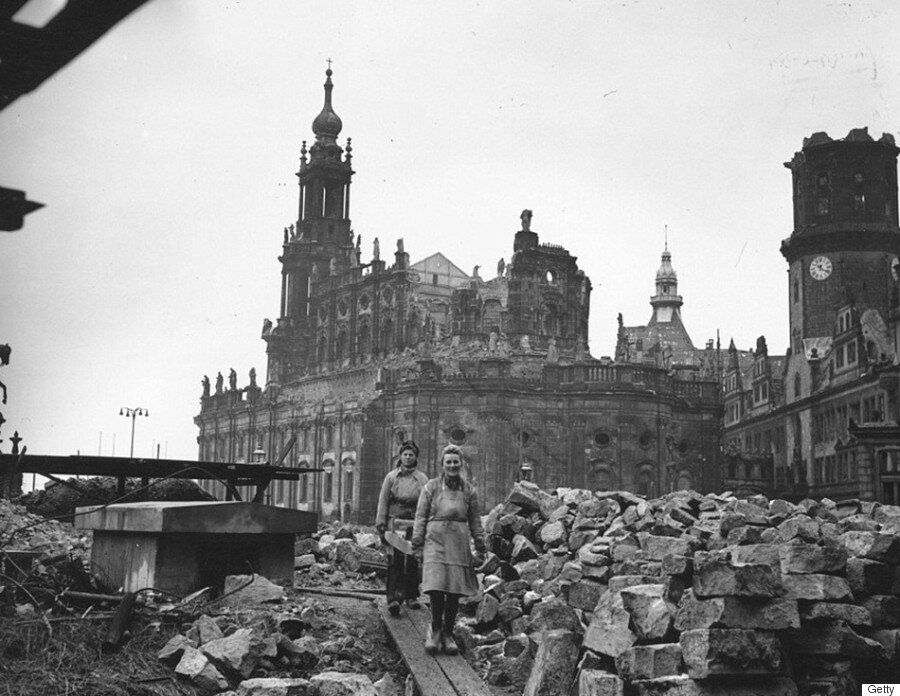 Dresden Bombing Anniversary Photos Contrast 1945 Devastation With 70 Years