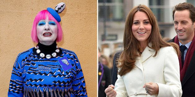Zandra Rhodes 'did not know' the Duchess of Cambridge is