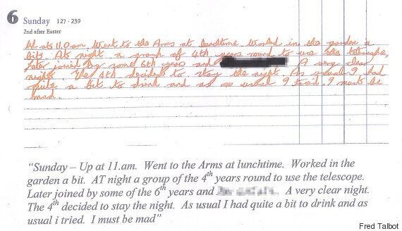 Fred Talbot's Journals Revealed Lust For Young