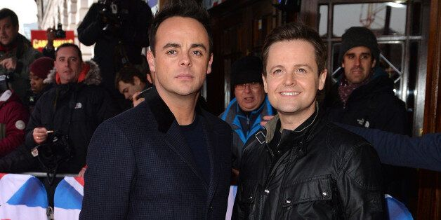 LONDON, ENGLAND - FEBRUARY 11: Anthony McPartlin and Declan Donnelly attend the London auditions for...