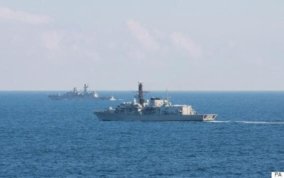 Russian Warship Tracked By Royal Navy In English