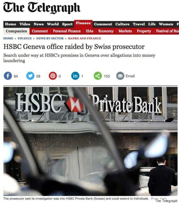 The Telegraph's HSBC Story Brought Out Some Very, Very Unkind Reader Comments (Before They Were