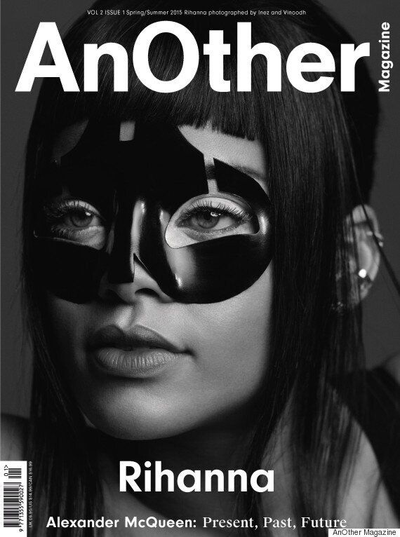 Rihanna Channels 'Fifty Shades Of Grey' In New Magazine Photo-Shoot, Paying Tribute To Alexander McQueen...