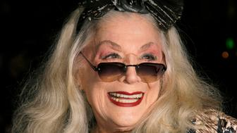 "FILE - In this Sunday, Jan. 7, 2007, file photo, Sylvia Miles arrives for the 2006 New York Film Critic's Circle Awards at the Supper Club in New York. Miles, whose brief appearances in ""Midnight Cowboy"" and ""Farewell, My Lovely,"" earned her two Academy Award nominations, died Wednesday, June 12, 2019. Miles was also a scene-stealing character of the New York party scene, beloved for her outgoing personality and flamboyant fashion sense. (AP Photo/Rick Maiman, File)"