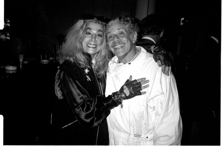 Sylvia Miles and friend Jerry Stiller.