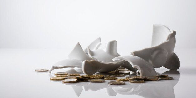 Broken piggy banks like this one are reportedly linked to female student eating