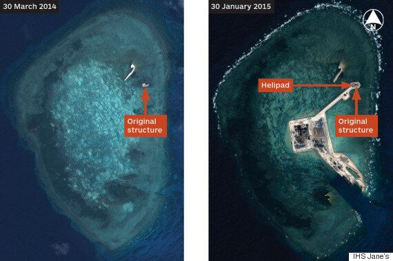 Beijing Constructs Chain Of Artificial Island Fortresses In Disputed Region Of South China