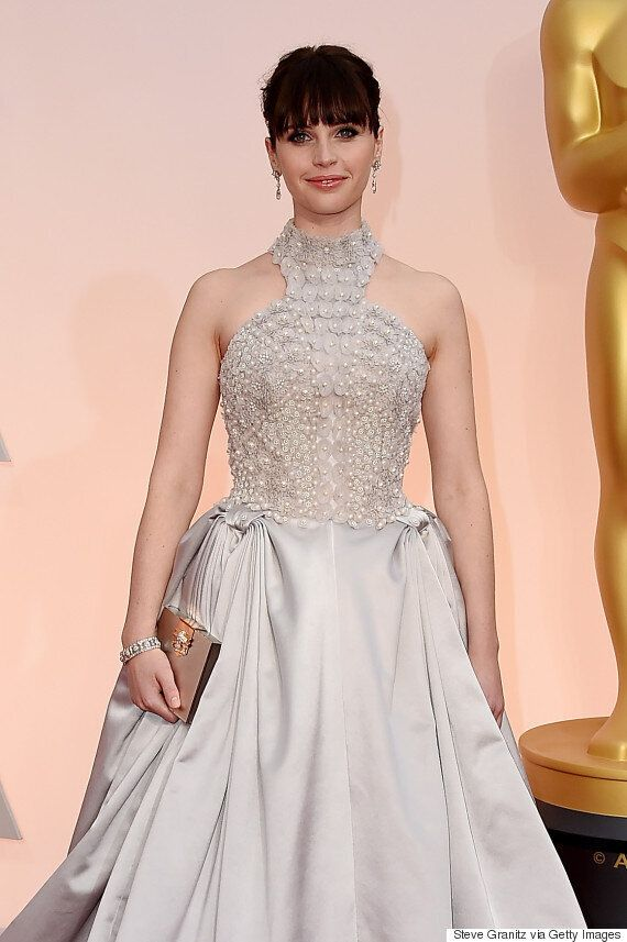 Oscars 2015 Red Carpet: Lupita Nyong'o Wows In A Custom Calvin Klein Pearl Gown