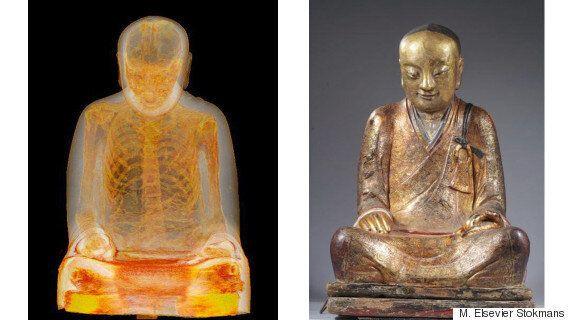 Mummified Monk Discovered Inside Bronze