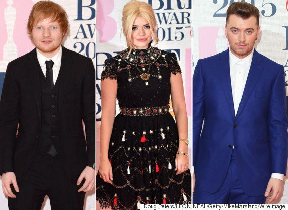 Brit Awards Red Carpet Photos: Ed Sheeran Leads Music's Biggest Stars Ahead Of The London Ceremony