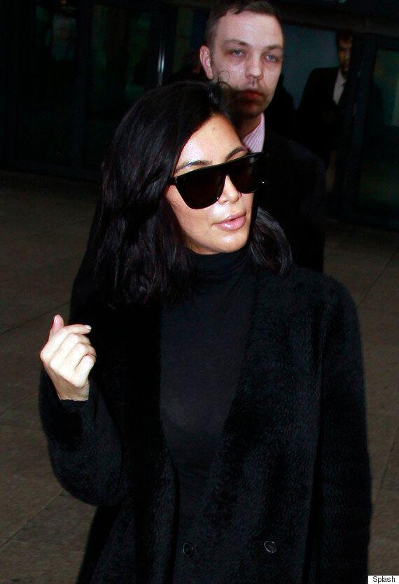 Kim Kardashian Arrives In London Ahead Of Husband Kanye West's Brit Awards Performance
