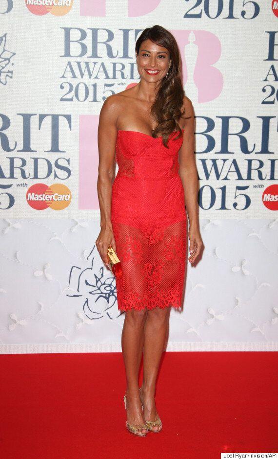 Brit Awards 2015: Melanie Sykes Sports Sheer Dress On The Red Carpet