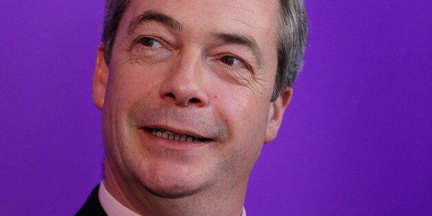 Ukip leader Nigel Farage delivers a speech at Rochester Corn Exchange in Kent, after Mr Farage insisted...