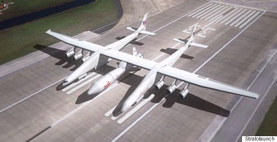 This Is The World's Largest Plane, And It Shoots Space