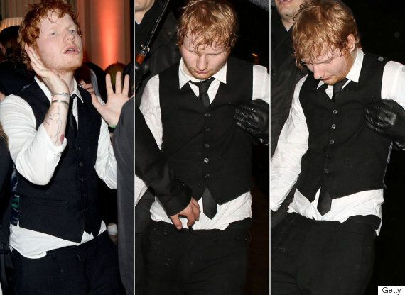 Ed Sheeran Leaves Brit Awards After-Parties Looking Worse For Wear As He Continues The Party With Sam...