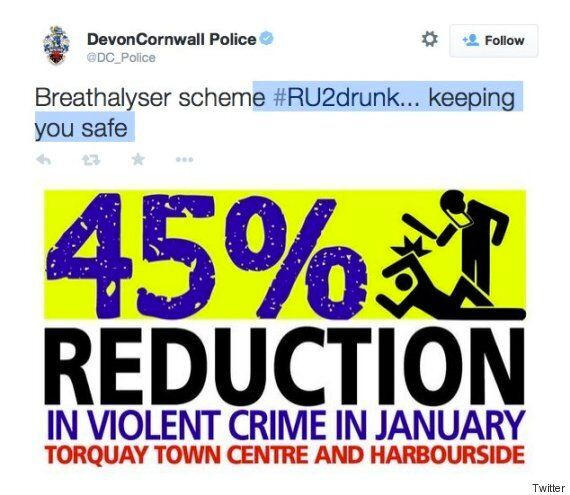 Devon And Cornwall Police Tweet Picture Of 'Drunk' Man Who Looks A Lot Like A Riot