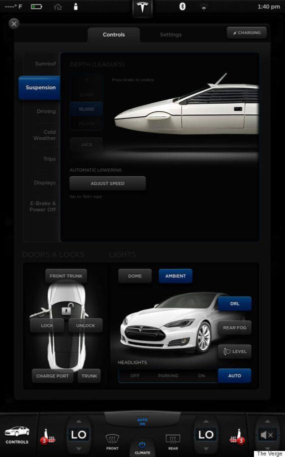 Tesla's Electric Supercar Has A Hidden 'James Bond'