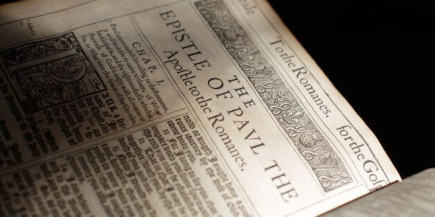 The 400 year old King James Bible on display in Lambeth Palace Library on May 25, 2011 in London, England....