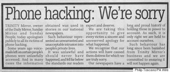 Phone Hacking Was 'Rife' Daily Mirror, Sunday Mirror And The People, Court