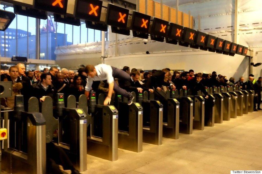 London Bridge Station Rush Hour Crush Shows Commuting At Its Absolute