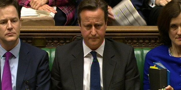 Prime Minister David Cameron during Prime Minister's Questions in the House of Commons,