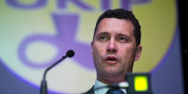 Steven Woolfe, migration spokesman for the U.K. Independence Party (UKIP), speaks during the party's...