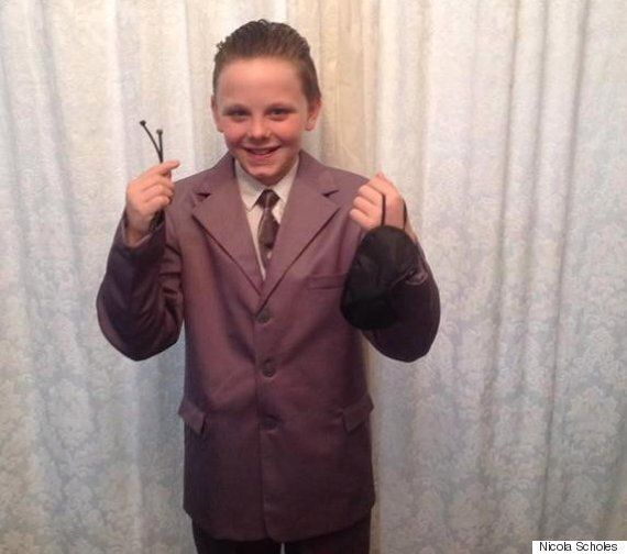 Fifty Shades Of Grey Costume Sees Liam Scholes, 11, Excluded From School World Book