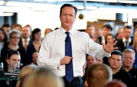 Here's Why David Cameron's Hands Will Hold Him Back in Any TV