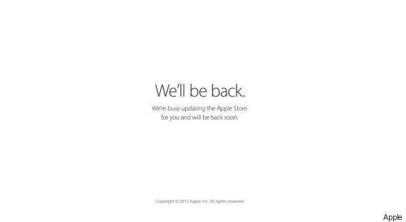 Apple Store Goes Down Ahead Of Apple Watch